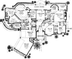 Style House Plans - 4451 Square Foot Home , 2 Story, 5 Bedroom and 4 Bath, 3 Garage Stalls by Monster House Plans - Plan 8-596