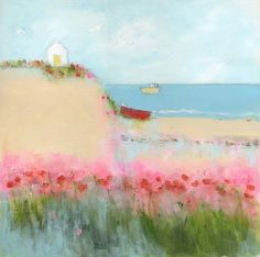 Poppies and seagulls