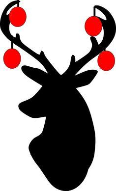 Christmas Stag wall art