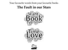 Your favourite words from The Fault in our Stars as a word cloud (literally). ‪#‎WorldBookDay‬ ‪#‎WBD2015