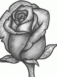 Simple rose drawing how to draw a rose bud rose bud step simple lotus flower drawing . simple rose drawing a single rose tattoo Pencil Art Drawings, Art Drawings Sketches, Easy Drawings, Images Of Drawings, Horse Drawings, Realistic Drawings, Disney Drawings, Rose Drawing Simple, Simple Rose