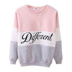 Women's Cute Hoodies Sweater Pullover Letters Diffferent Printed ($7.99) ❤ liked on Polyvore featuring tops, sweaters, pink, pink pullover, sweater pullover, letter sweater, pink pullover sweater and initial sweater