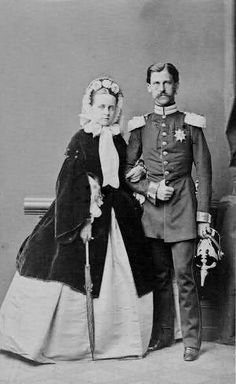 Their Serene Highness Prince and Princess Heinrich XIV of Reuss-Schleiz. Married: February 6, 1858
