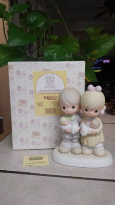 "PRECIOUS MOMENTS ""BE FRUITFUL AND MULTIPLY"" 524409 COUPLE HOLDING NEWBORN TWINS in Collectibles, Decorative Collectibles, Decorative Collectible Brands, Precious Moments, Figurines, Other Precious Moments Figures 