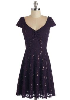 Cask Party Dress in Mulberry. Tonight, your family is breaking open some vintage barrels of wine - and you're wearing this deep-purple dress for the occasion! #gold #prom #modcloth