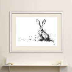 I've just found The Hare Original Charcoal Drawing. Hare portrait stunning original charcoal drawing by British wildlife artist James Hollis, perfect for a modern or rustic décor.. £145.00 Masculine Interior, Modern Interior Design, British Wildlife, Dark Interiors, Rustic Style, Rustic Decor, Art Prints, Framed Prints, Rabbit Drawing