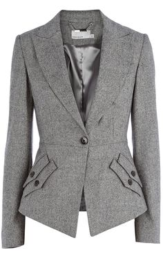 Karen Millen Texture Tailoring Jacket. From Castle. Love the dual pocket detail.