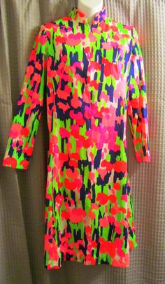 Vintage 70s Neon Dress by Bo Jack by Scentedlingerie on Etsy, $19.00