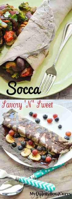 Best socca crepe: vegan and gluten-free, quick and easy comfort food yet so healthy! Just under 120 cal!