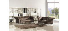 Divani Casa Soren - Transitional Tufted Fabric Sofa Set - Sofas - Living Room