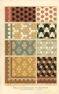 Carreaux petit catalogue While these images are from a 1928 French tile catalogue the same tiles and patterns were being used in many mid-century modern bathrooms forty years later. Retro Home Decor, Cheap Home Decor, Home Decor Accessories, Decorative Accessories, Mid Century Modern Bathroom, Modern Bathrooms, Hexagon Tiles, Hex Tile, Tiling