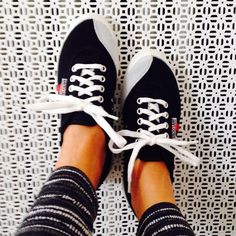 Backyard Footwear Tivoli Black with White + Red Stripes canvas sneakers. Just looking at these is making us feel sporty. And Danish. Stand out from the crowd. #bornincopenhagen #thedanishinvasion #comingtoamerica #spring2016