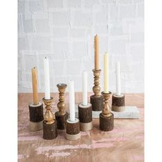 Rustic Candlesticks - Set of 2