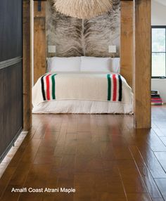 "Amalfi Coast Atrani Maple hardwood flooring by Bella Cera. Maple has a delicate, uniform texture which can add elegance to any room. It is usually straight-grained, but can also occur as ""birds-eye"" figure."