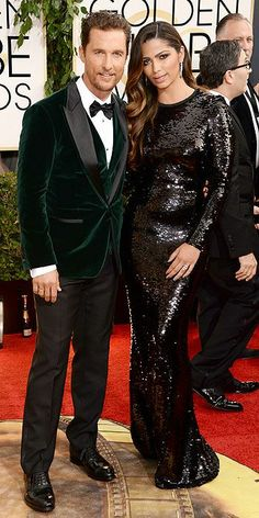 The 2014 Golden Globes: Matthew McConaughey and Camila Alves