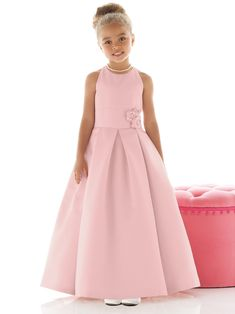 Floor Length Elegant Flower Girl Dress Fl190 | Large, Elegant ...