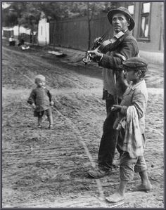 The Blind Violinist, Abony, Hungary, 1921