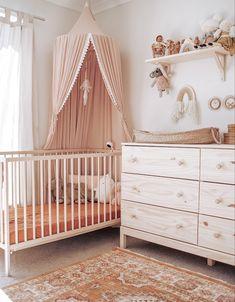 Baby Nursery Decor, Baby Bedroom, Nursery Room, Bedroom Decor, Themed Nursery, Nursery Ideas, Ikea Baby Room, 60s Bedroom, Master Bedroom