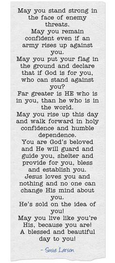 Spiritual Warfare ~ Morning Prayer