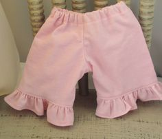 Pink Ruffle Corduroys for Waldorf Inspired by sistersdollclothes, $7.00