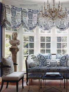The placement of the fabric pattern is so skillfully done. If you're going to the expense of custom window treatments, do it right!.
