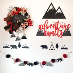 Home Decoration Ideas Country Lumberjack Mountain Bear New Baby Wreath for Boy - Under the Kentucky Sun.Home Decoration Ideas Country Lumberjack Mountain Bear New Baby Wreath for Boy - Under the Kentucky Sun Baby Boy Themes, Baby Shower Themes, Baby Boy Shower, Baby Showers, Shower Ideas, Woodland Nursery Decor, Nursery Wall Decor, Woodland Baby, Nursery Ideas