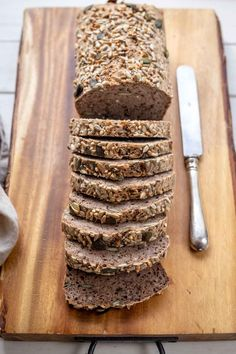 A healthy, and super easy to make vegan buckwheat bread recipe made with natural ingredients. Yeast-free and nut-free. Slices like regular bread and freezes well. Bread raises to high, and can be sliced into pieces. Raw Dessert Recipes, Raw Food Recipes, Bread Recipes, Cooking Recipes, Freezer Recipes, Freezer Cooking, Drink Recipes, Cooking Tips, Vegan Buckwheat Bread Recipe