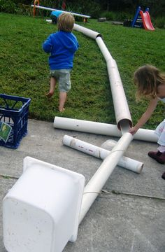 recycled pipes can be used indoor /outdoor as loose parts. I saw boys used it as ramps, tunnels, road.