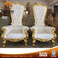 Look what I found Via Alibaba.com App: - King chairs of wedding decoration for the bride and groom