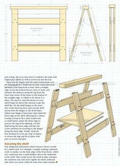 #1342 Folding Sawhorse Plan - Workshop Solutions Plans, Tips and Tricks