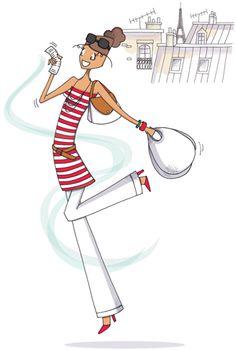 Mad'moiselle C , illustratrice, agence Marie Bastille @Mad'moiselle C . // cette image appartient à son auteur et/ou l'agence Marie Bastille + d'infos sur le site // Bastille, Glittering Lights, White Clouds, Paris, Digi Stamps, Tour Eiffel, Coloring Book Pages, Sketching, Illustrations