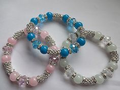 #*frozen* silver snowflake & #diamante spacer  crystal & glass bead  #bracelet  ,  View more on the LINK: http://www.zeppy.io/product/gb/2/161493031090/