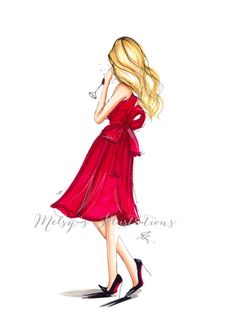 Etsy の The Red Dress by Melsys