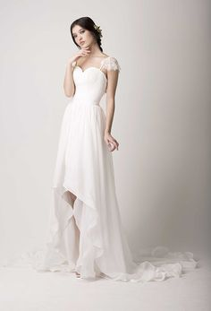 A Fashion-Forward Trend for 2015/2016 - High-Low Wedding Dresses | www.onefabday.com