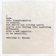 you're not falling apart