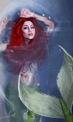 Mermaid GIF ༺•༻ *~•:*´`*:~ ༺•༻