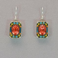 Firefly Petite Crystal Earrings - Padparadscha