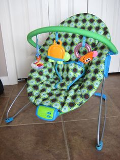 How to Re-Cover baby stuff: bouncy seat, car seat, bassinet, highchair