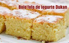 Receita de bolo fofo feito com iogurte, rico em proteínas e indicado para a dieta dukan, já a partir da fase ataque. Aprenda a fazer.