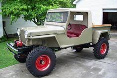 Jeep with truck cab Jeep Willys, Jeep Suv, Jeep Pickup, Jeep Truck, Willys Wagon, Jeep Wagoneer, Cool Jeeps, Cool Trucks, Big Trucks