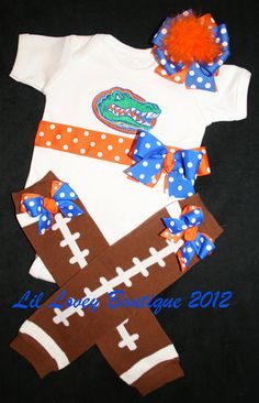 Roll Tide!-FOOTBALL FEVERAny TeamCustom PERSONALIZED 3 by LilLoveyBoutique, $59.95