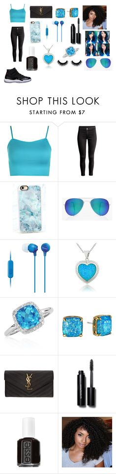 """Blue And Black Swag"" by breezybrebre on Polyvore featuring beauty, WearAll, Freaker, Casetify, Boohoo, Sony, Glitzy Rocks, Belk & Co., Kate Spade and Yves Saint Laurent"