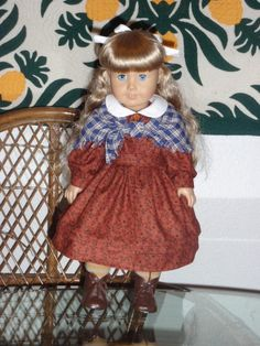 1850s Prairie School Dress and Shawl for by alohagirldollclothes, $26.50