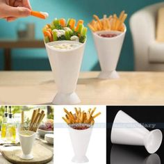 Dipping cone dip and dine on veggies, fries, #finger #foods & dips #cooking tool,  View more on the LINK: 	http://www.zeppy.io/product/gb/2/381599669279/