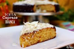 ALIMENTA: TORTA CAPRESE BIANCA (Torta de almendra, limón y chocolate blanco)