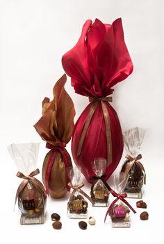 Deliciosos huevos de chocolate rellenos con chocolate bitter, chocolate blanco, sin relleno...Disfruta de la Pascua de Resurrección con La Fête