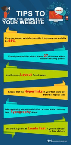 Want to improve your website usability?  Learn how to improve your website's usability from the graphic below!