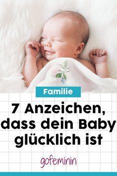 Es gibt noch ein paar Hinweise, die uns schon vor dem ersten Lächeln signalisieren, dass unser Baby zufrieden ist. #Baby #HappyBaby #glücklicheBabys #ZeichenglücklicheBabys