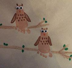 Footprint Owl Art