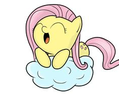 Fluttershy on Cloud by Beornus